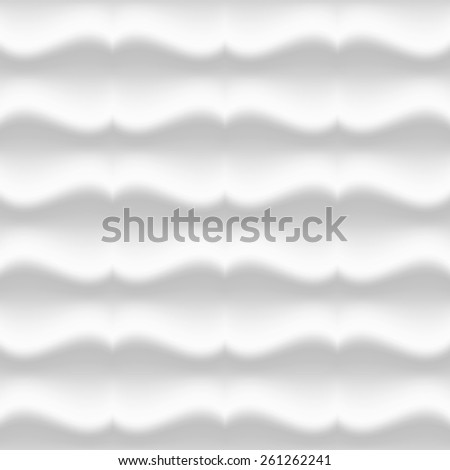 White modern wavy pattern. Seamless vector background - stock vector