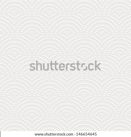 White napkin texture. Vector illustration. - stock vector