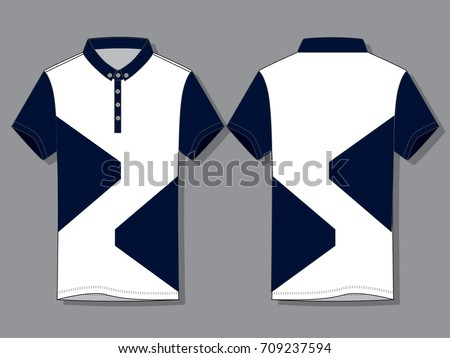 White navy blue polo shirt design stock vector 709237594 for Polo t shirt design images
