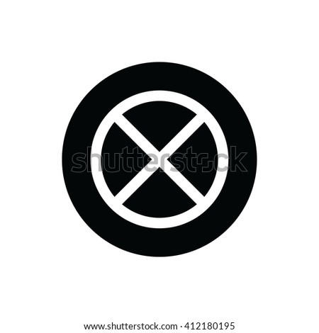 White no parking vector sign.  - stock vector