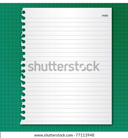 white Note Paper on green board