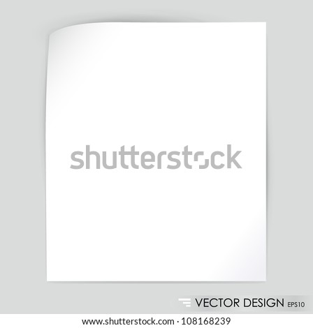 White note paper, ready for your message. Vector illustration. - stock vector
