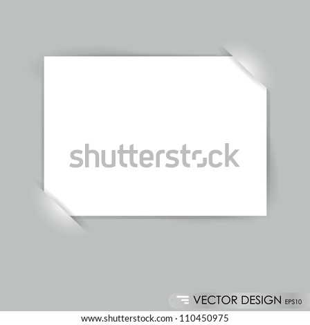 White note papers, ready for your message. Vector illustration.