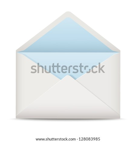 White open envelope - stock vector