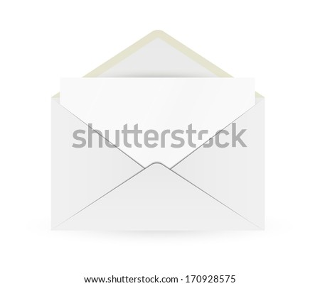 open envelope with paper gray open envelope paper on gray stock vector 261061268 shutterstock