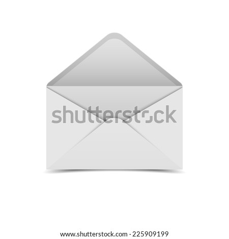 White open envelope.vector - stock vector