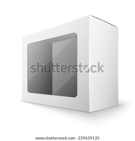 White package box, excellent vector illustration, EPS