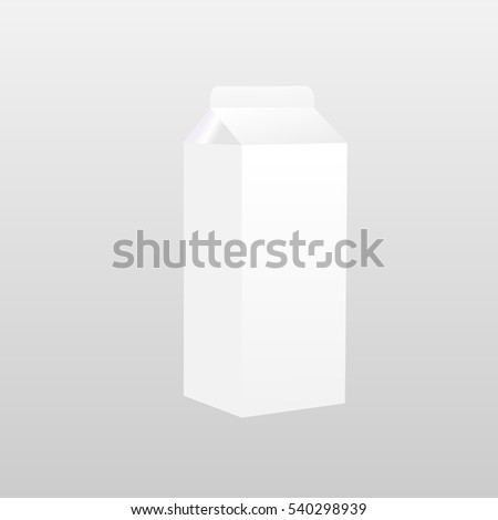 White packaging of milk on a gray background. Vector illustration.