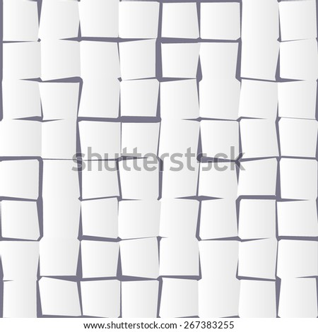 White paper abstract pattern background. Vector illustration