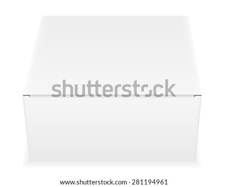 white paper carton box packing vector illustration isolated on background - stock vector