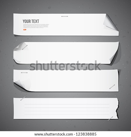 White paper Long collections, vector illustration - stock vector
