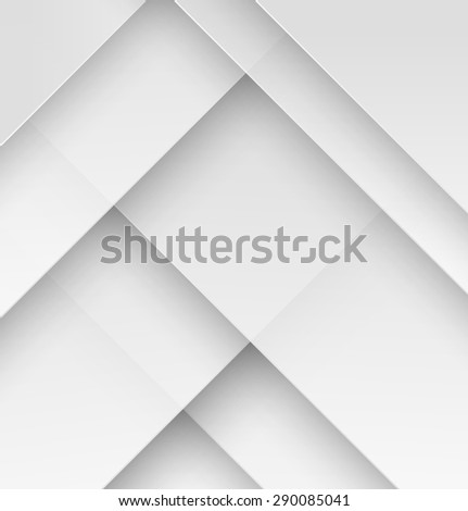 White paper material design wallpaper with shadow. Vector illustration - stock vector