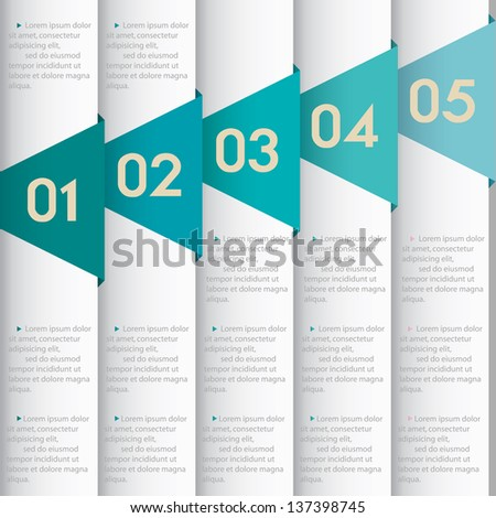 Vector Paper Numbered Leather Bannersdesign Template Stock Vector
