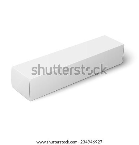 White Paper Cardboard Box Template Toothpaste Stock Vector (Royalty ...