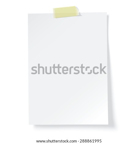 white paper reminder, vector - stock vector
