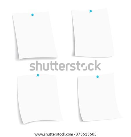 white paper sheet, vector - stock vector