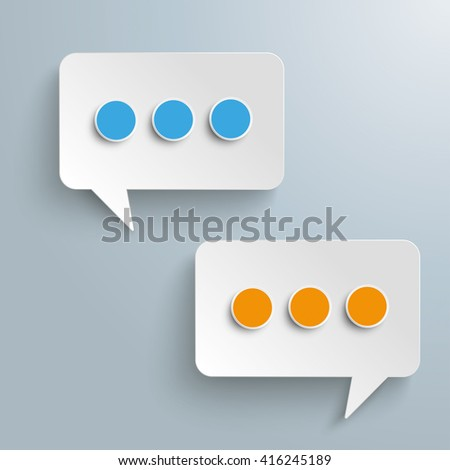 White paper speech bubbles on the gray background. Eps 10 vector file.