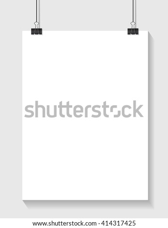 White Paper Template with Place for your Text with Clip EPS10 - stock vector
