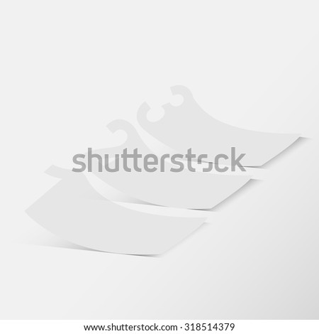 White paper with numbers - stock vector