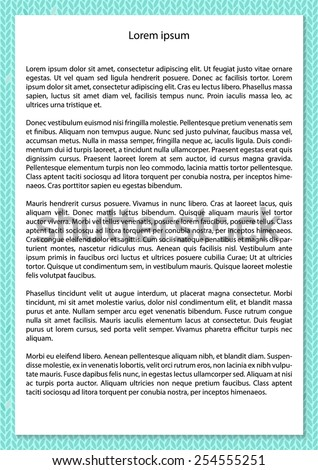 White paper with shadow on knitted background. Template. Vector illustration.