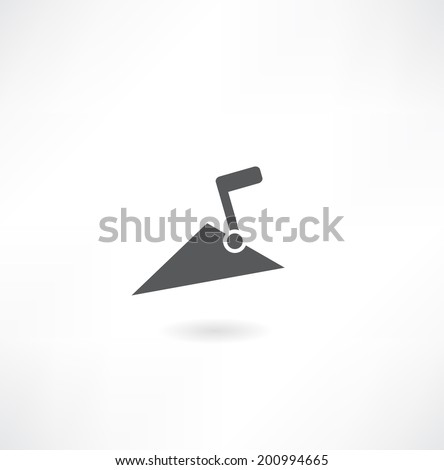 white parget on the wall - stock vector
