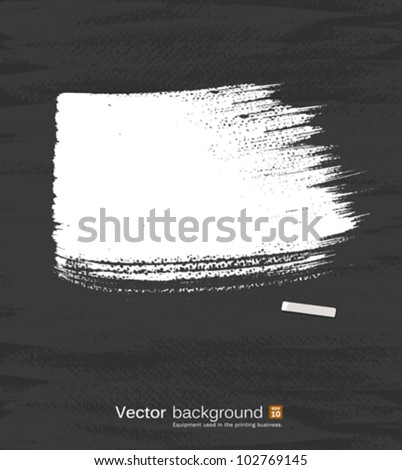 White pastel space for text on blackboard. vector illustration - stock vector