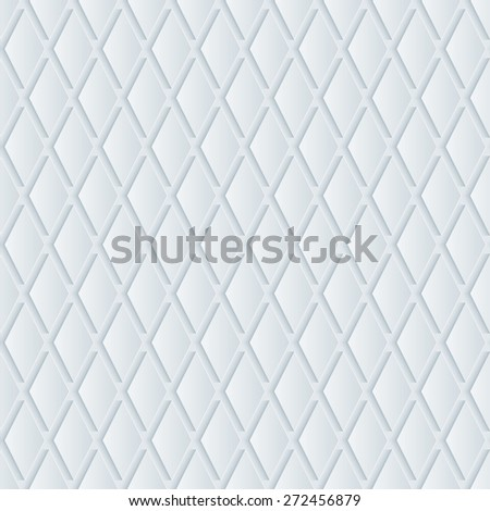 White perforated paper with cut out effect. Abstract 3d seamless background. Vector EPS10. - stock vector