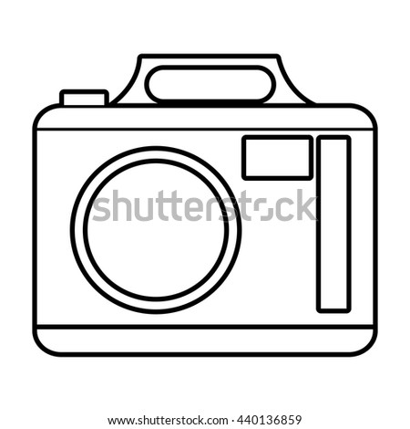 white photo  camera with white circle and stripes over isolated background,vector illustration