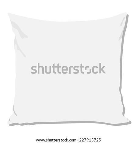 White pillow, pillow isolated, pillow vector, pillow - stock vector