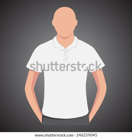 White polo shirts male with man body