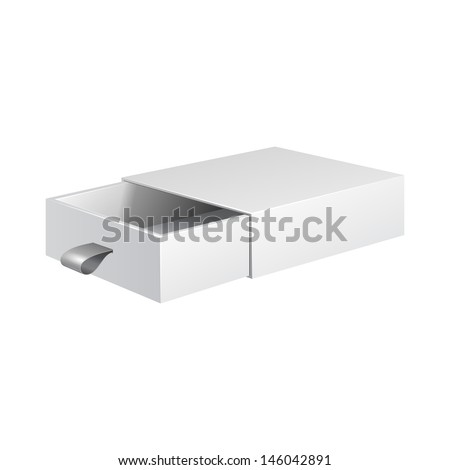 White Product Cardboard, Carton Package Box Open On White Background Isolated. Ready For Your Design. Product Packing Vector EPS10  - stock vector