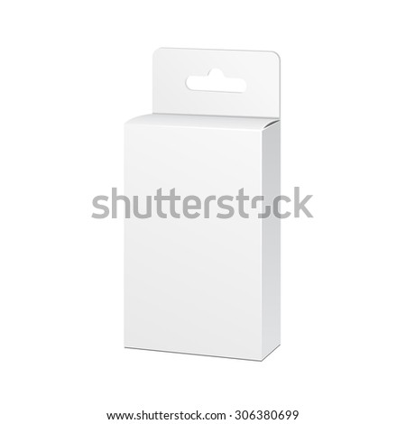 White Product Package Box Illustration Isolated On White Background. Mock Up Template Ready For Your Design. Product Packing Vector EPS10 - stock vector