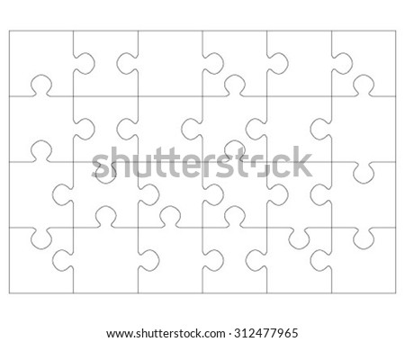 White puzzle, vector illustration