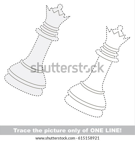 White queen chess dot dot educational stock vector royalty free white queen chess dot to dot educational game for kids altavistaventures Image collections
