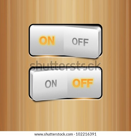 White Realistic Vector Switch - stock vector