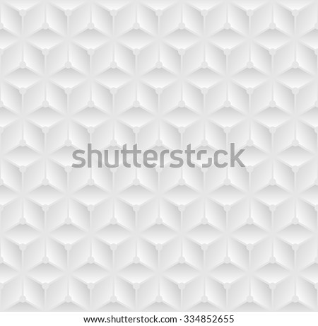 White seamless 3D texture. Modern pattern. Vector illustration - stock vector