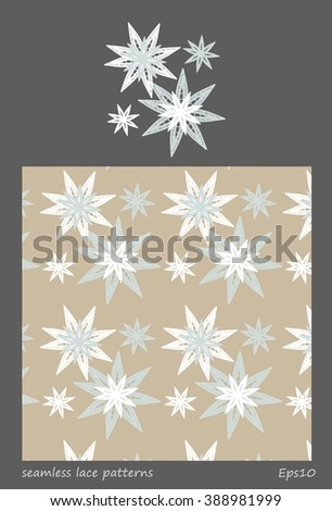 White seamless pattern lace vector texture background for all. Eps10.
