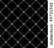 White seamless pattern with butterfly symbol on black, vector, 10eps. - stock photo