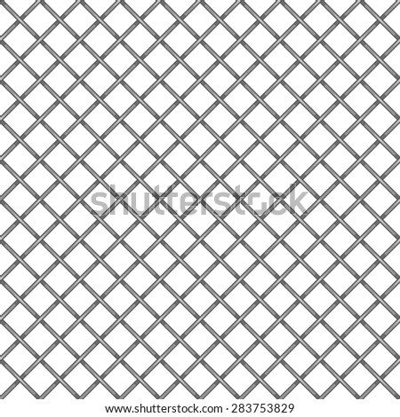 white seamless texture. structure of the mesh fence. vector background. realistic netting. No gradients and no transparency. - stock vector