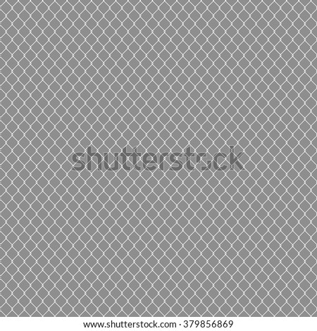 White seamless texture. structure of the white mesh fence. vector background - stock vector