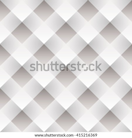 White seamless tile background with woven paper mosaic - stock vector