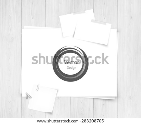 White sheet of papers and abstract design.Realistic vector background eps10 - stock vector