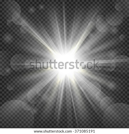 White shine on transparency background