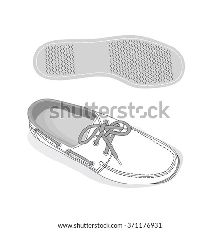 White shoes. footwear. Vector illustration. - stock vector