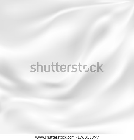 White Silk Fabric for Drapery Abstract Background, Mesh Vector Illustration - stock vector