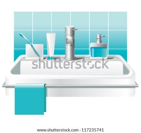 white sink and faucet