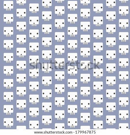 White skull patterns background - stock vector