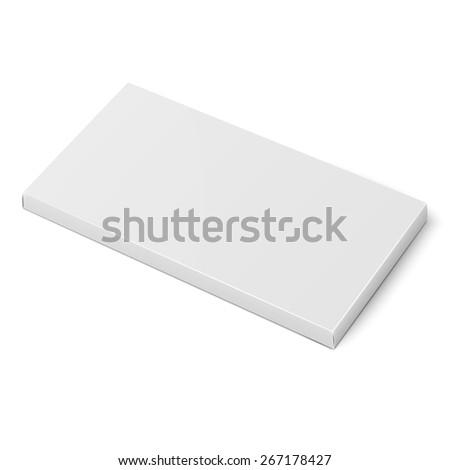 White Slim Cardboard Box Template Chocolate Stock Vector (2018 ...
