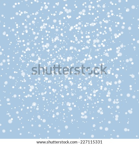 White snow abstract winter background - stock vector