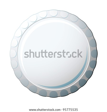 White soda pop bottle cap with copy space for advert - stock vector